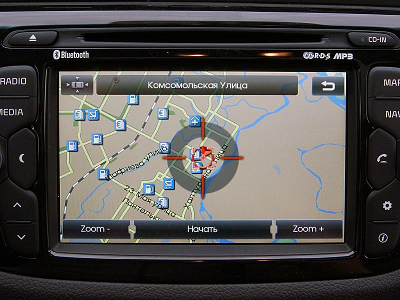 Kia cee'd 2012 хэтчбек экран мультимедиацентра в режиме навигации