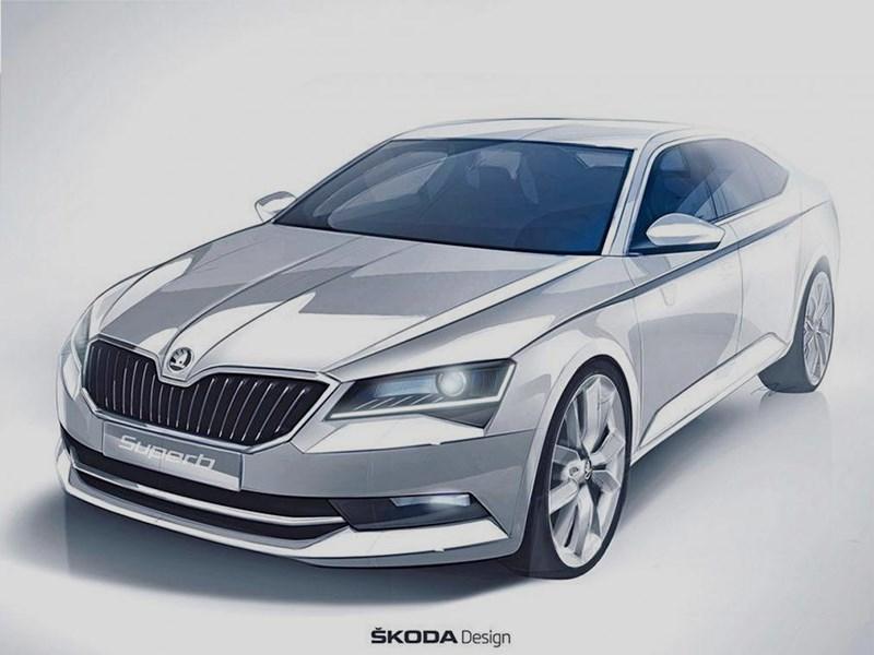 Новый Skoda Superb - Skoda Superb 2015 Флагман показал личико
