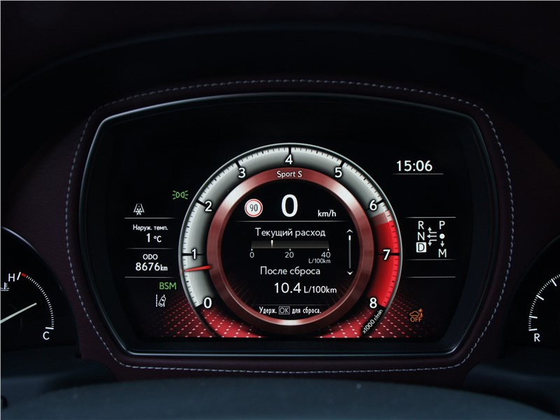 Lexus LS 500 2018 приборная панель