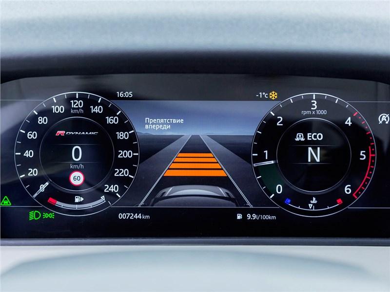 Range Rover Velar 2017 приборная панель