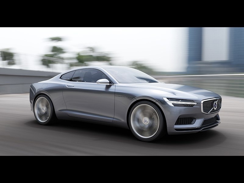 Volvo Coupe концепт 2013 вид сбоку фото 8