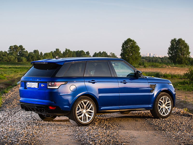 Land Rover Range Rover Sport SVR 2015 вид сбоку сзади