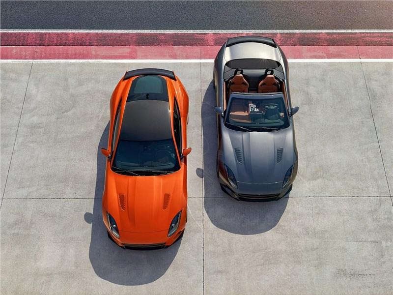 Jaguar F-Type SVR 2016 вид сверху