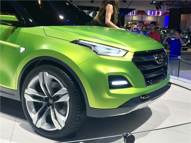 Hyundai Creta STC Concept 2016 вид спереди сбоку