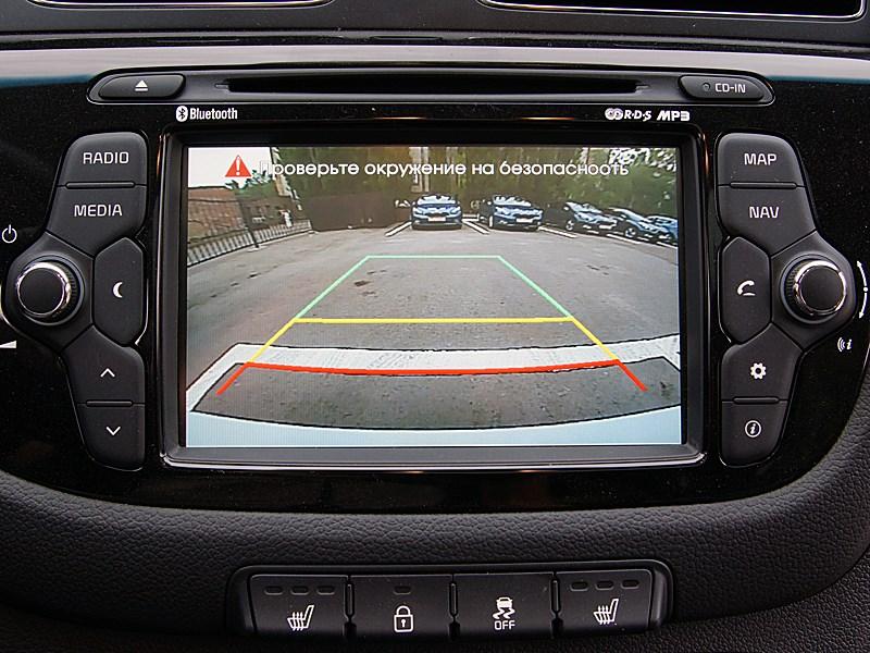 Kia cee'd 2012 хэтчбек экран мультимедиацентра в режиме камеры заднего вида
