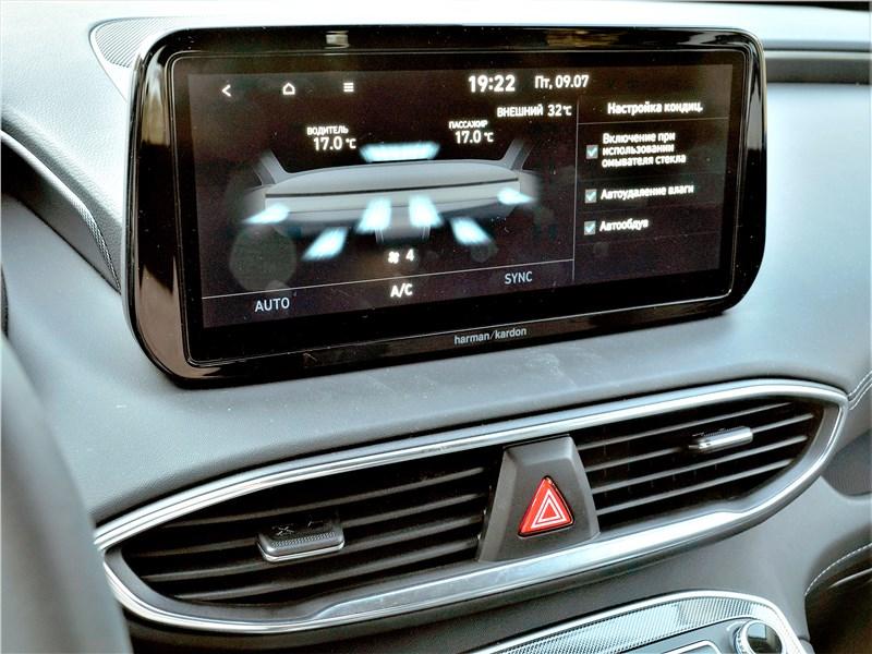 Hyundai Santa Fe (2021) монитор