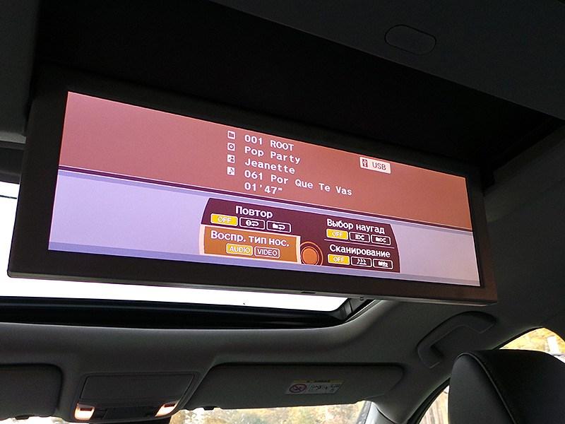 Acura MDX 2014 откидной дисплей на потолке
