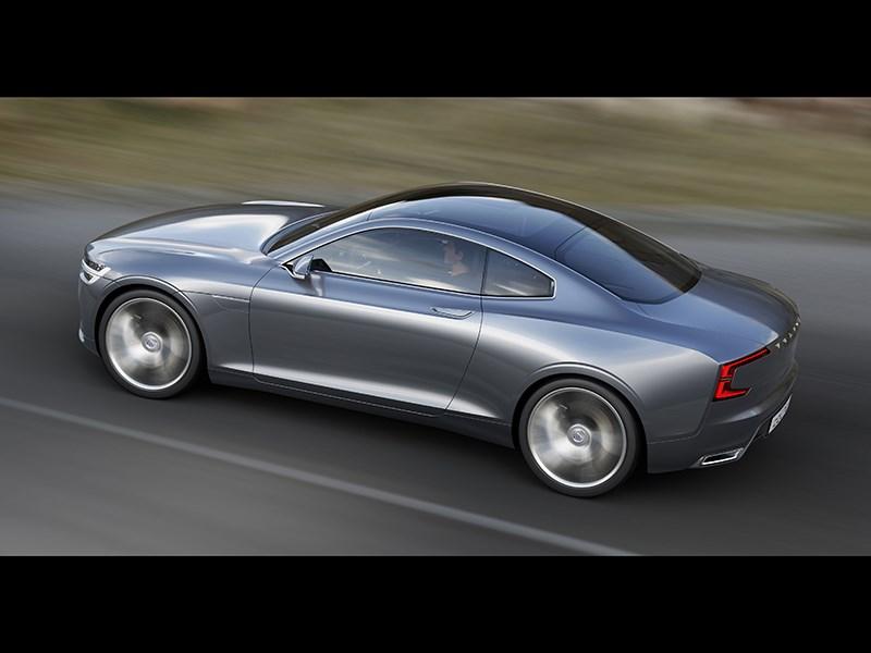 Volvo Coupe концепт 2013 вид сверху фото 2