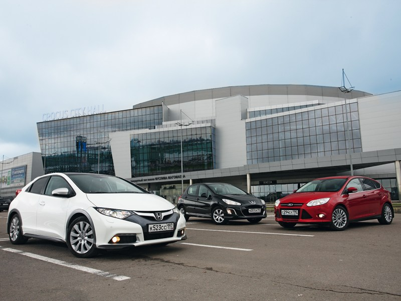 Honda Civic, Ford Focus, Peugeot 308 - сравнительный тест