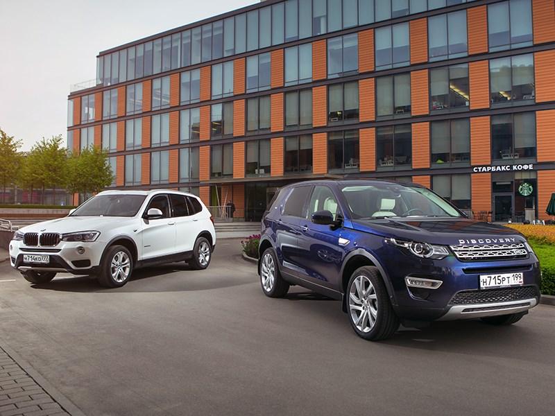 Land Rover Discovery Sport, BMW X3 - сравнительный тест bmw x3 и land rover discovery sport. разность потенциалов