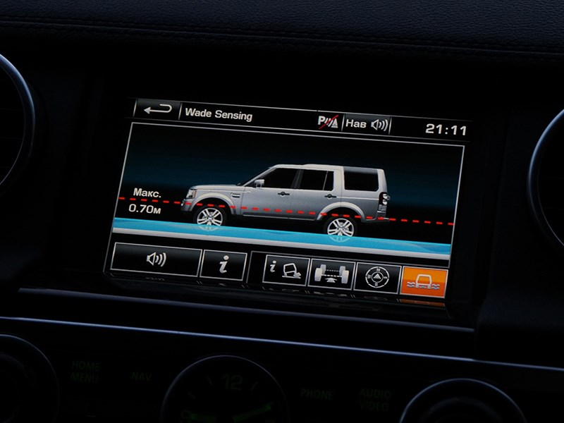 Land Rover Discovery 2014 дисплей мультимедиасистемы
