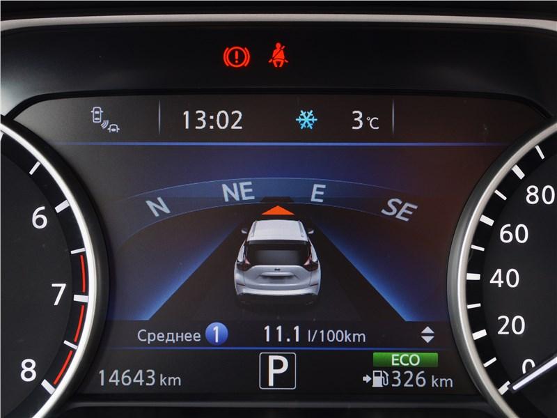 Nissan Murano 2016 приборная панель