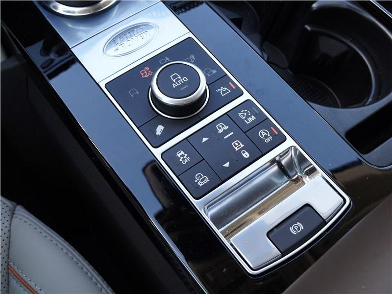 Land Rover Discovery 2017 выбор режимов движения