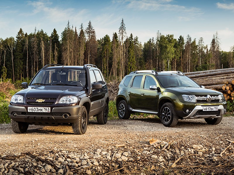 Renault Duster, Chevrolet Niva - сравнительный тест chevrolet niva и renault duster. не разбирая дороги