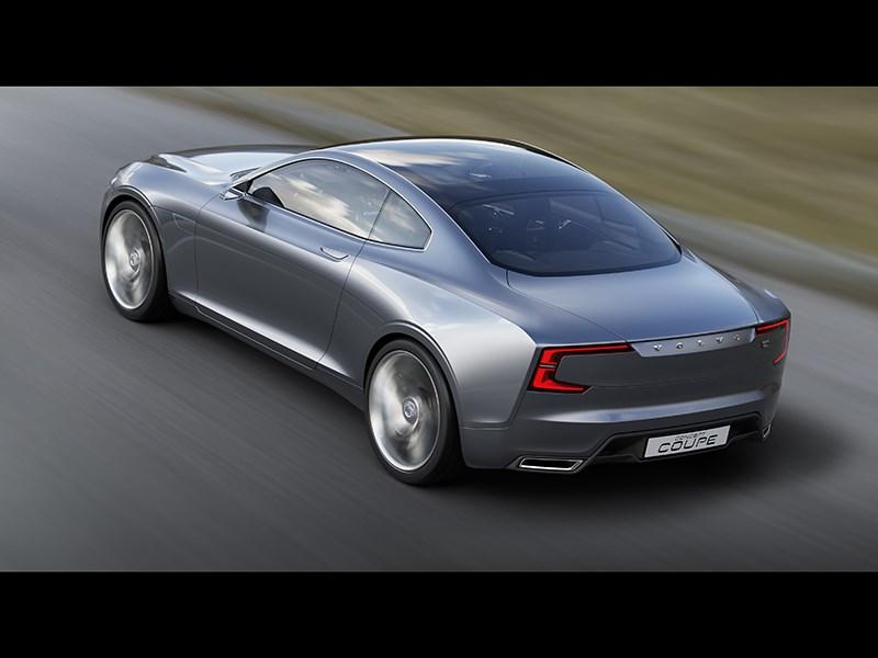 Volvo Coupe концепт 2013 вид сзади фото 2