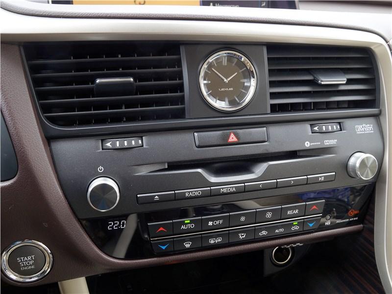 Lexus RX 350L 2018 центральная консоль