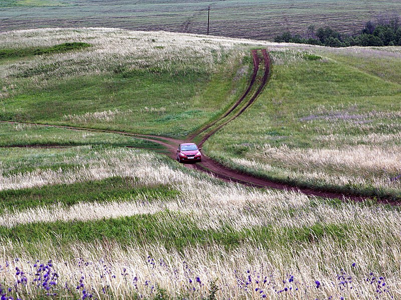 Kia cee'd 2012 в пробеге по Южному Уралу в степи