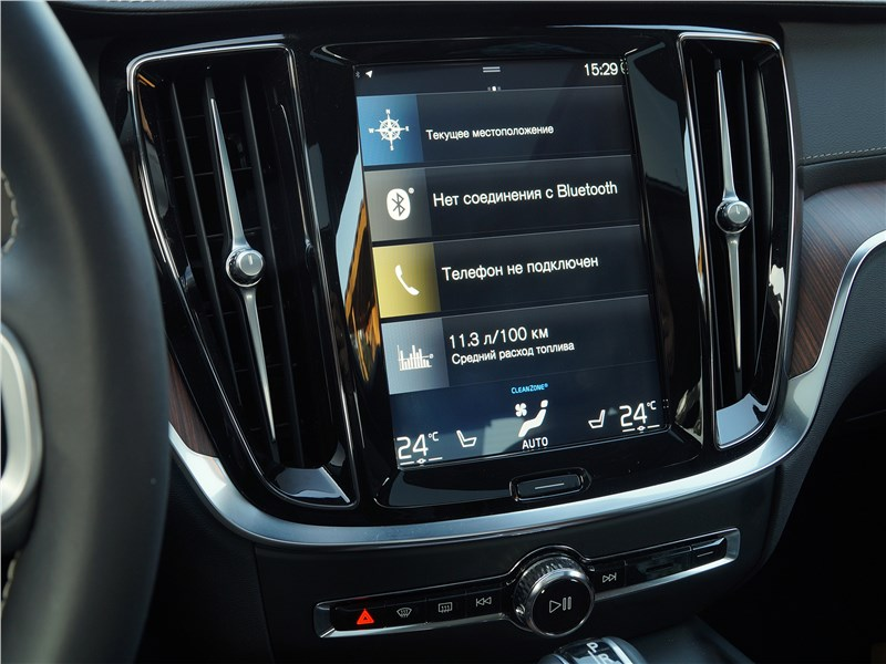 Volvo S60 2019 центральная консоль