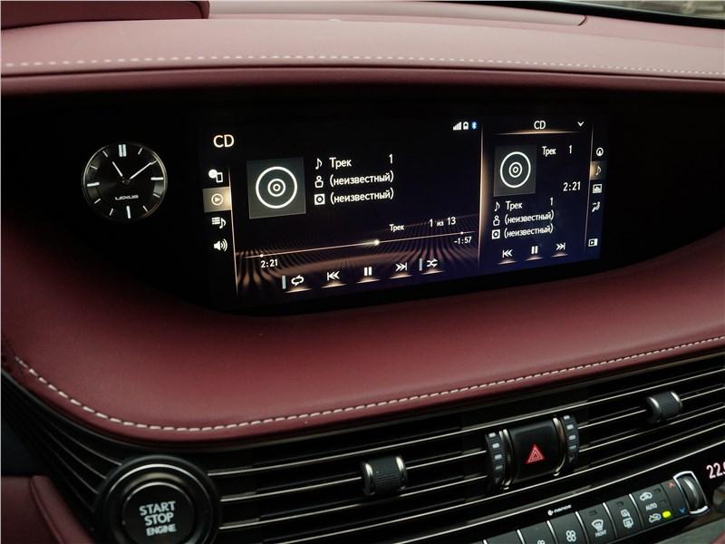Lexus LS 500 2018 центральная консоль