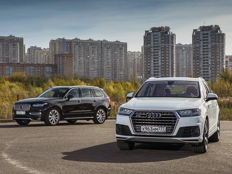 Audi Q7 - audi q7 2015 и volvo xc90 2015. элита