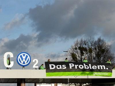 Greenpeace организовал протестную акцию перед штаб-квартирой Volkswagen