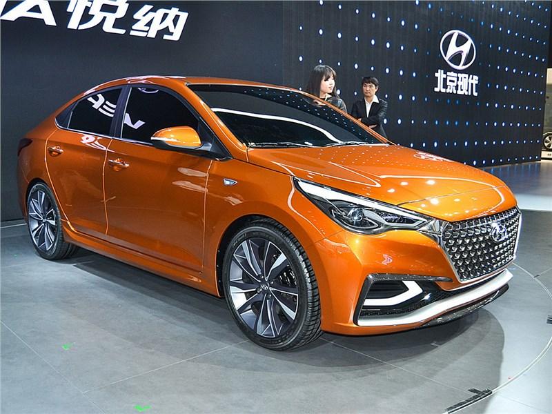Новый Hyundai Verna - Hyundai Verna Concept 2016 С щитом и плавником