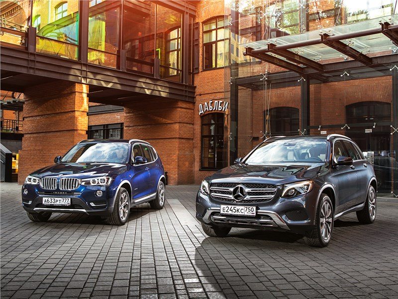 Mercedes-Benz GLC , BMW X3 - сравнительный тест bmw x3 30d и mercedes-benz glc 250. вечная битва