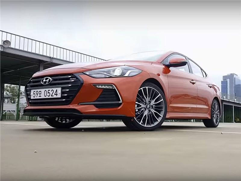 Hyundai Elantra Sport 2017 вид спереди