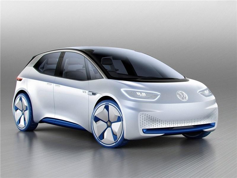 Volkswagen I.D. concept 2016 вид спереди сбоку