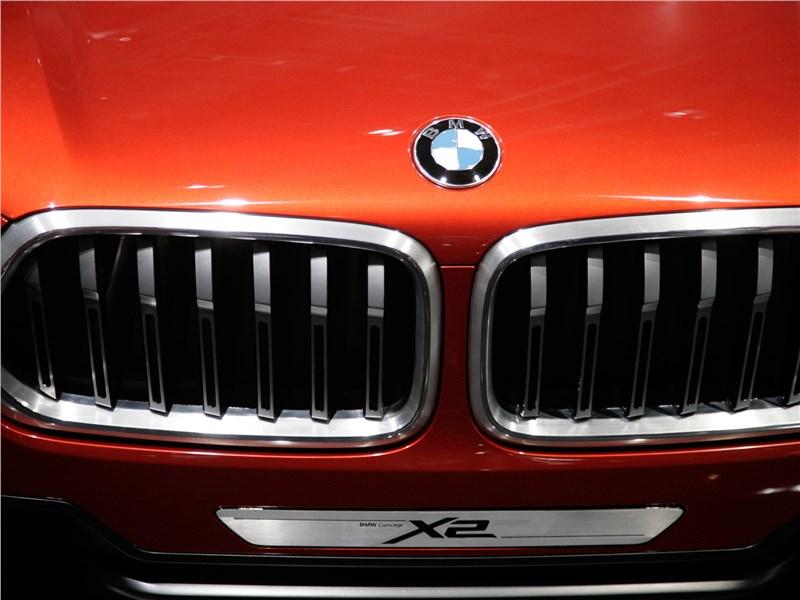 BMW X2 concept 2016 радиаторная решетка