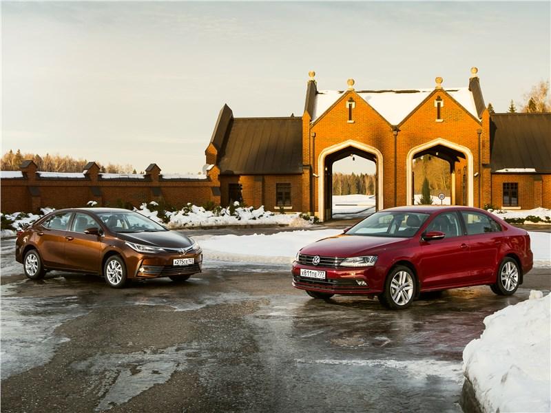 Toyota Corolla - сравнительный тест toyota corolla 2017 и volkswagen jetta 2015. оптимальный баланс