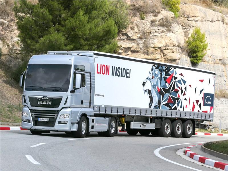 MAN TGX D38 2017 В мятежной Каталонии