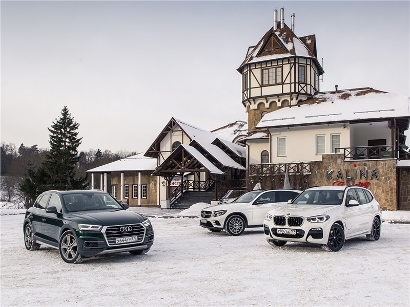 Mercedes-Benz GLC - сравнительный тест. mercedes-benz glc отбивает атаку конкурентов: audi q5 и bmw x3