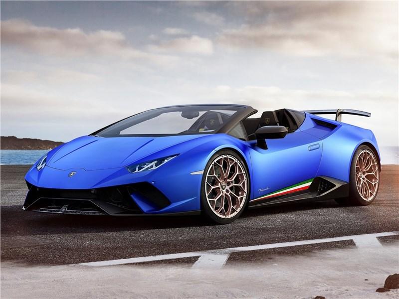 Новый Lamborghini Huracan Performante Spyder - Lamborghini Huracan Performante Spyder 2019 Штормовое предупреждение