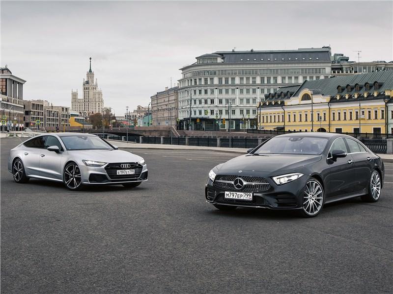 Audi A7, Mercedes-Benz CLS-Class - сравнительный тест audi a7 sportback 55 tfsi quattro 2018 и mercedes-benz cls 450 4matic 2019 : победа формы над содержанием