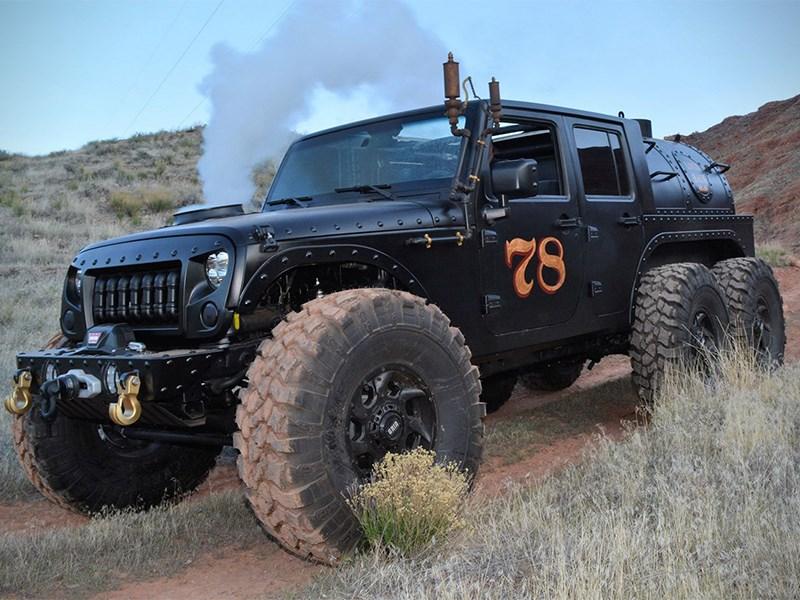 Jeep Wrangler превратили в паровоз Фото Авто Коломна