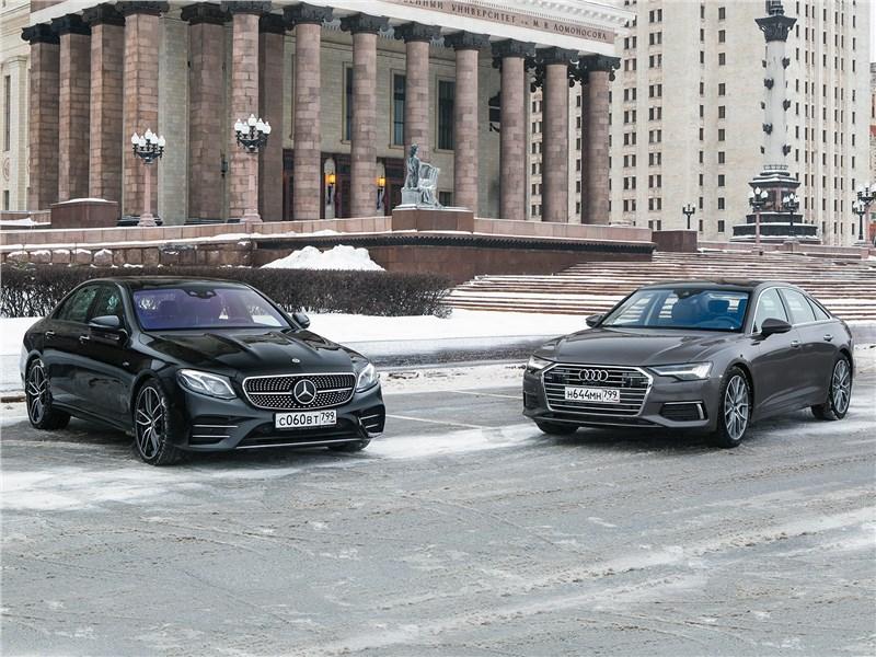 Audi A6, Mercedes-Benz E-Class AMG - когда «бюргеры» дерутся: audi a6 2019 против mercedes-benz e-class 2019