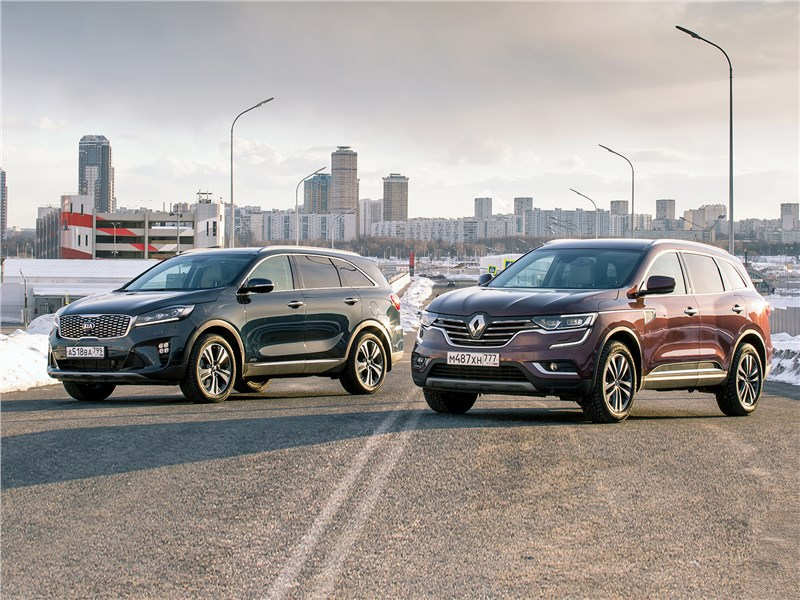 KIA Sorento, Renault Koleos - сравнительный тест. kia sorento prime и renault koleos: 7-местный «кореец» или 5-местный «француз»?