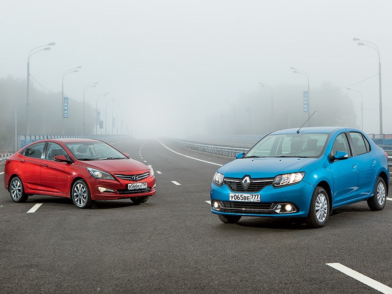Hyundai Solaris, Renault Logan - hyundai solaris 2014 и renault logan 2014 битва концепций