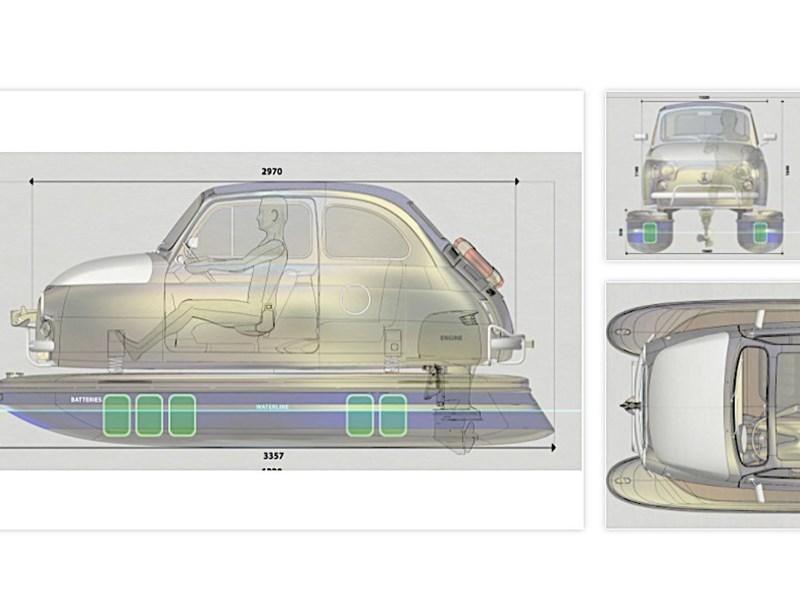 Fiat 500 превратили в катамаран
