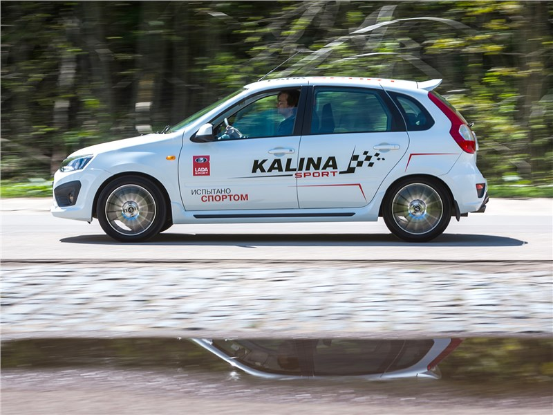 Lada Kalina Sport 2017 вид сбоку