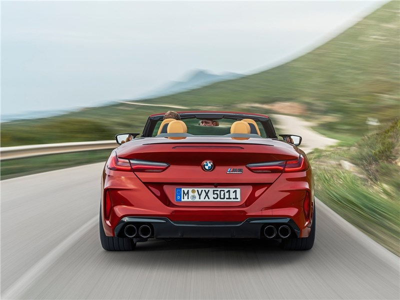 BMW M8 Competition Convertible 2020 вид сзади
