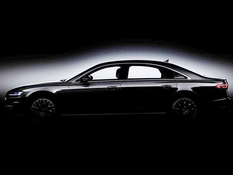 Седан Audi A8 получит оригинальную уникальную светотехнику