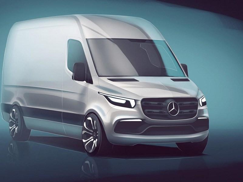 Mercedes=Benz опубликовал первое фото нового Sprinter