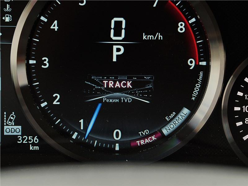 Lexus GS F 2016 приборная панель