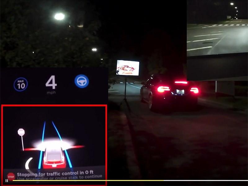 Найден еще один способ обмануть автопилот Tesla – баннеры!