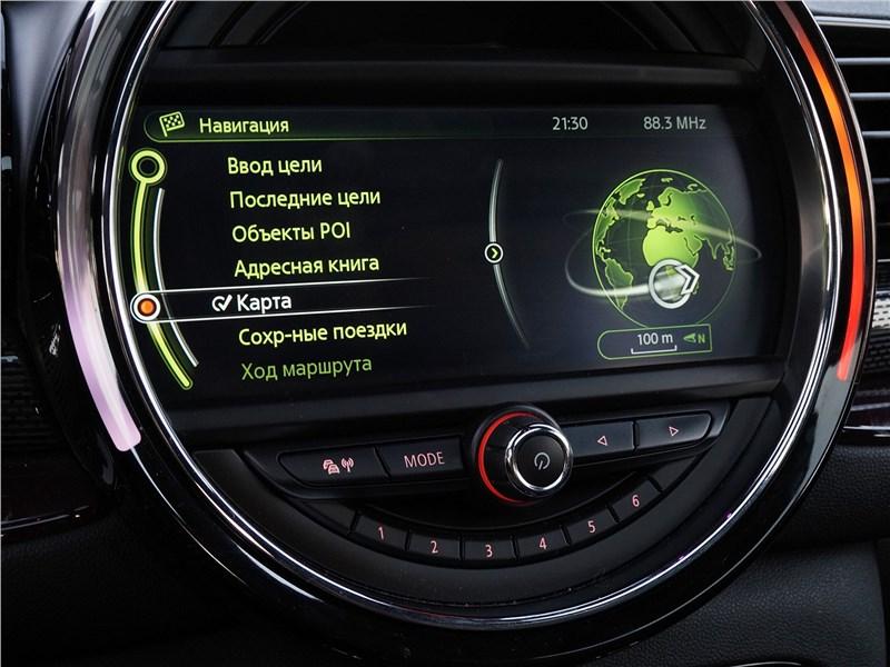 Mini Clubman Cooper S 2016 экран мультимедиасистемы
