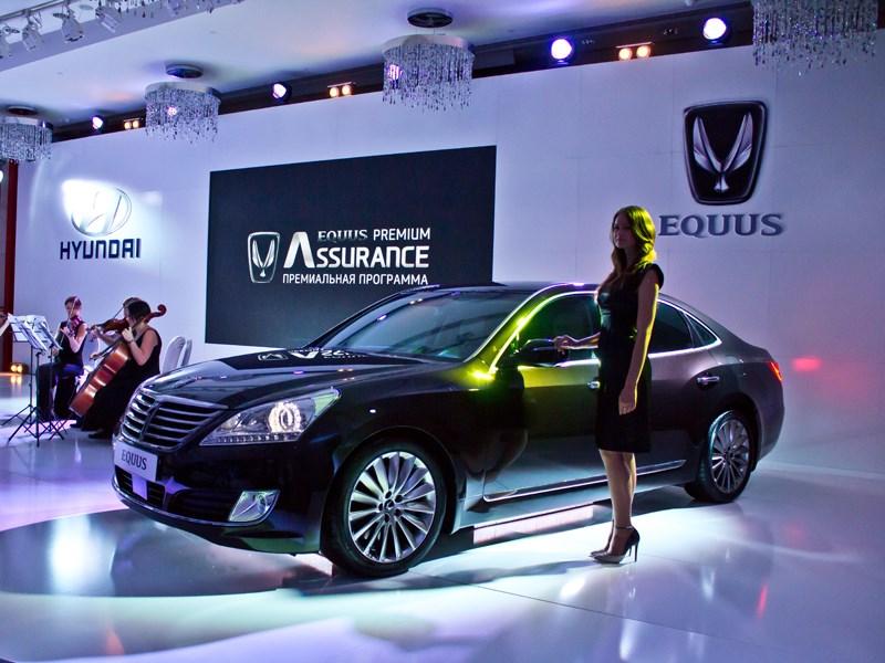 Hyundai Equus 2013 вид сбоку