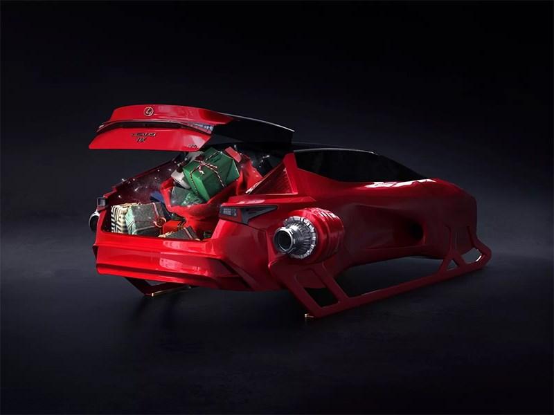Дизайнеры Lexus «врезались» в Санта-Клауса