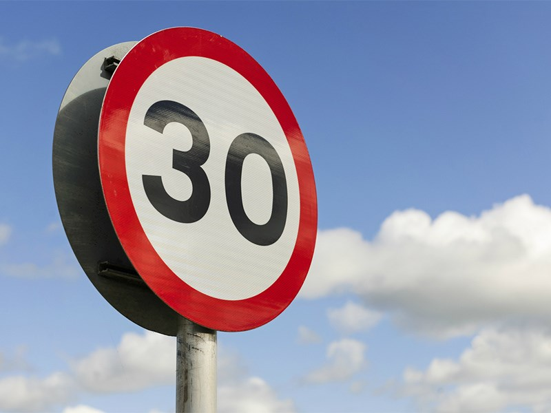На улицах городов введут новые ограничения скорости